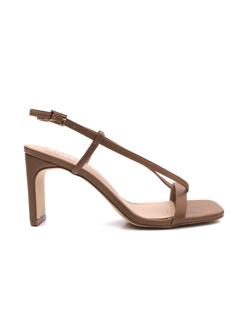 TEGAN Tan Block Heels