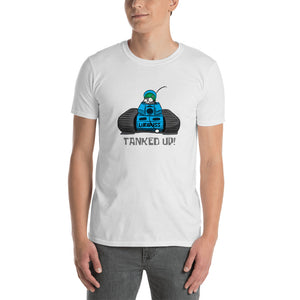"Blue ""TANKED UP"" Short-Sleeve Unisex T-Shirt Free Shipping (UK/US)"