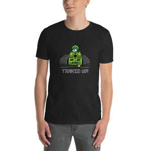 "Green ""TANKED UP"" Short-Sleeve Unisex T-Shirt Free Shipping (UK/US)"