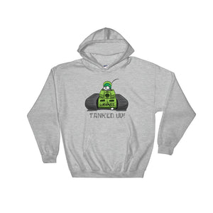 "Green ""TANKED UP"" Hooded Sweatshirt Free Shipping (UK/US)"