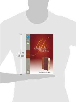 NIV, Life Application Study Bible, Imitation Leather, Tan/Brown, Indexed, Red Letter Edition