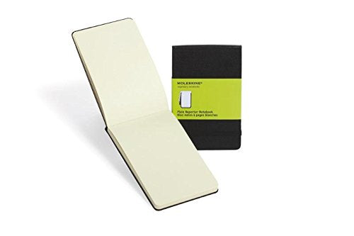 Moleskine Reporter Notebook, Large, Plain, Black, Hard Cover (5 x 8.25) (Reporter Notebooks)