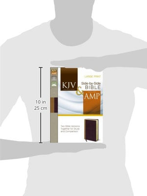 KJV, Amplified, Parallel Bible, Large Print, Imitation Leather, Tan/Red, Red Letter Edition: Two Bible Versions Together for Study and Comparison