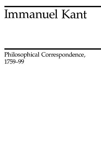 Philosophical Correspondence, 1759-1799 (Midway Reprint)