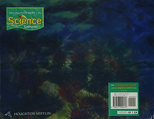 Houghton Mifflin Science California: Worktexts Level 1