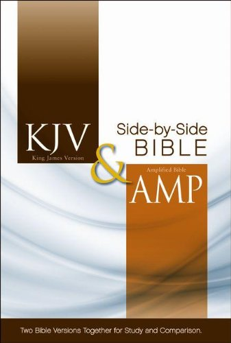 KJV, Amplified, Side-by-Side Bible, Hardcover, Red Letter Edition