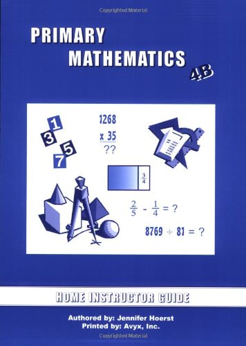 Primary Mathematics Home Instructor's Guide 4B (U.S. Edition)