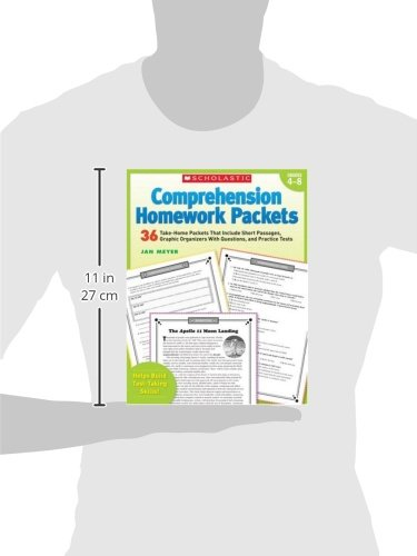 Comprehension Homework Packets: 36 Take-Home Packets That Include Short Passages, Graphic Organizers With Questions, and Practice Tests