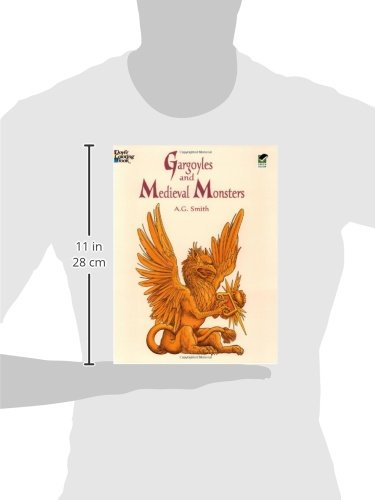 Gargoyles and Medieval Monsters Coloring Book (Dover Coloring Books)