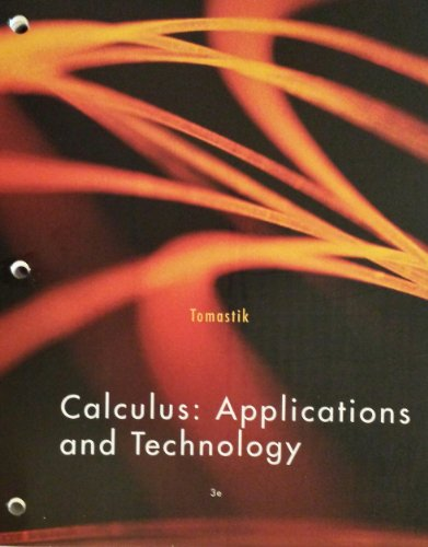 Calculus: Applications and Technology