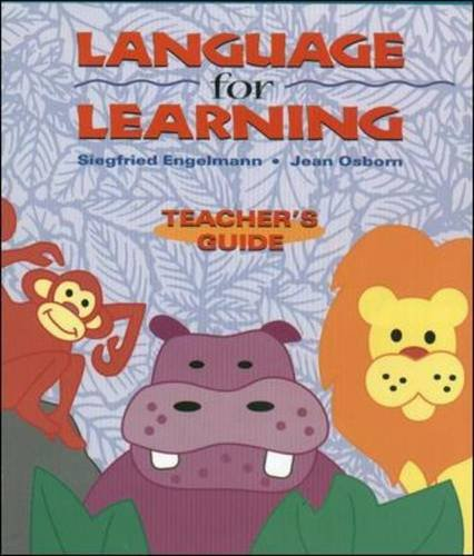 Language for Learning, Grade Levels Pre-K - 2, Teacher's Guide