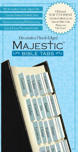 Majestic Floral-Edged Bible Tabs