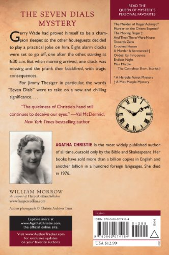 The Seven Dials Mystery (Agatha Christie Mysteries Collection (Paperback))