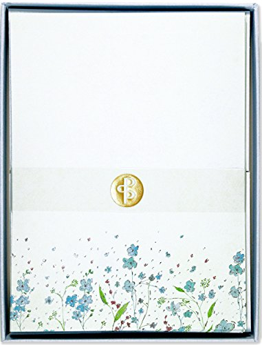 Blue Flowers (Letter-Perfect Stationery)