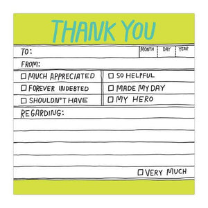 Knock Knock Hand-Lettered Thank You Sticky Notes