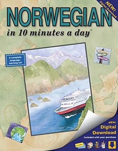NORWEGIAN in 10 minutes a day: Language course for beginning and advanced study.  Includes Workbook, Flash Cards, Sticky Labels, Menu Guide, ... Grammar.  Bilingual Books, Inc. (Publisher)