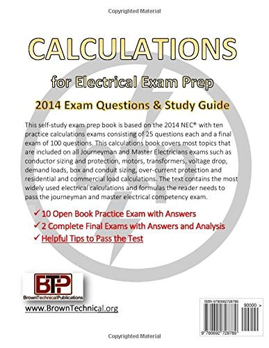 Calculations for Electrical Exam Prep 2014