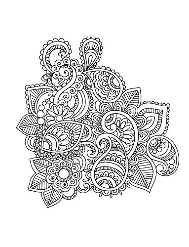 Mehndi: Gorgeous coloring books with more than 120 pull-out illustrations to complete (Just Add Color)