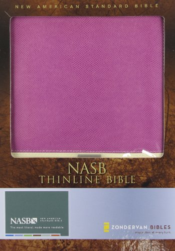 NASB, Thinline Bible, Imitation Leather, Purple/Cream, Red Letter Edition