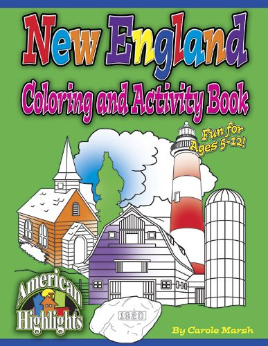 New England Coloring and Activity Book (City Books)