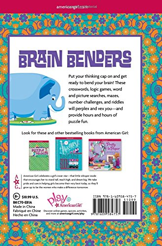 Brain Benders: Crosswords, Mazes, Searches, Riddles, and More Puzzle Fun! (American Girl)