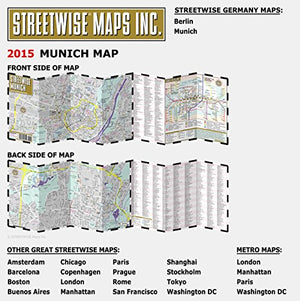 Streetwise Munich Map - Laminated City Center Street Map of Munich, Germany - Folding pocket size travel map with metro map including S-Bahn & U-Bahn