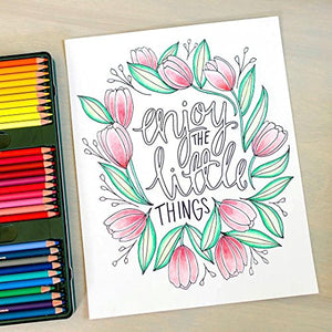 Color Happy: An Adult Coloring Book of Removable Wall Art Prints (Inspirational Coloring, Journaling and Creative Lettering)