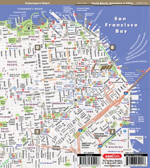 StreetSmart SF San Francisco Map By VanDam -- Laminated City Street pocket map with all attractions, museums, hotels and Bay Area transit information including BART, MUNI and CALTrain, 2016 Edition