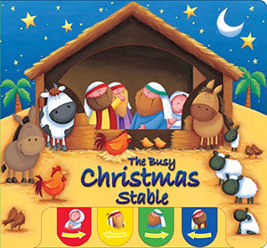 The Busy Christmas Stable (Candle Peek-a-boo)