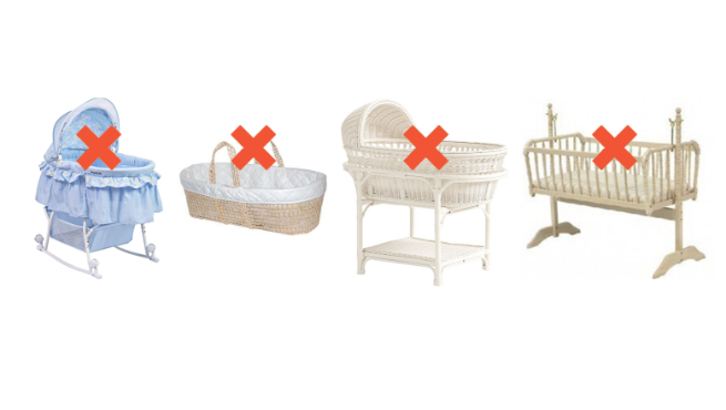 What is a safe change table or bassinet?