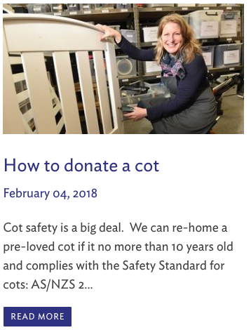 How to donate a cot