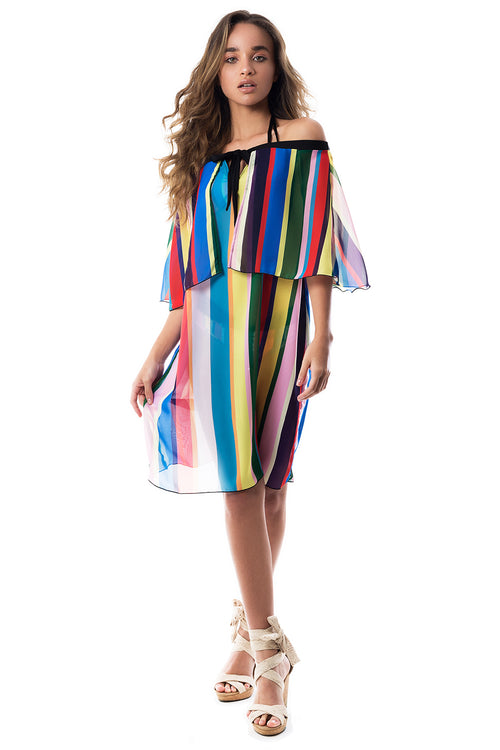COLORS STRIPE COVER UP
