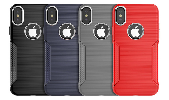 Shock Resistant Metallic Brushed iPhone Case for 6, 7, 8, and X
