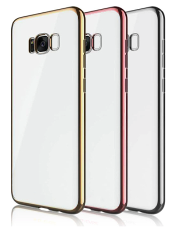 Clear Back Cover Case for Samsung Galaxy S8
