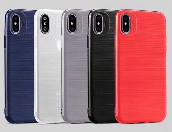 Soft-Brush Looking TPU Case for iPhone X, 8, 7, 6, and Plus
