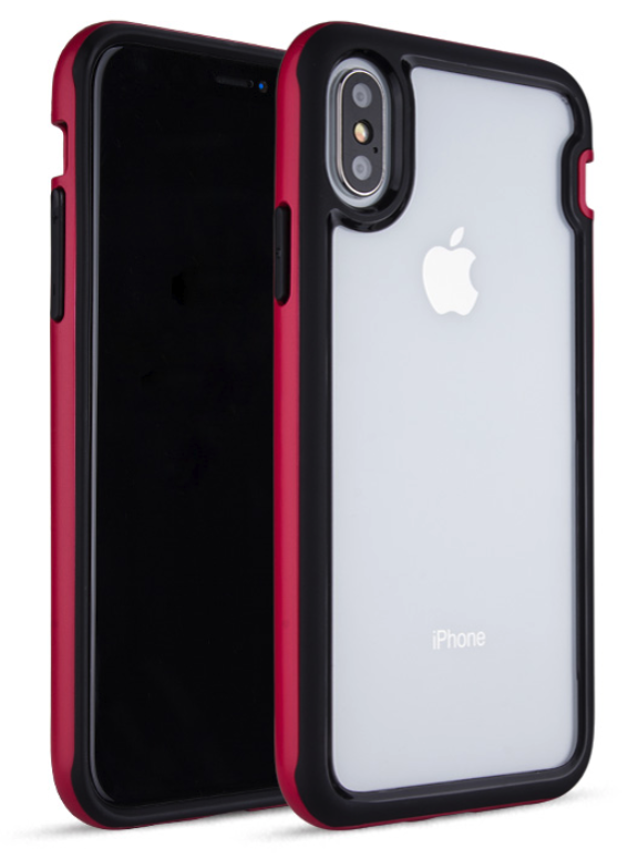 Clear Back Bumper Case for iPhone X