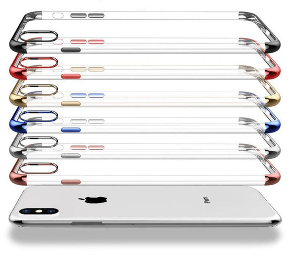 Clear Back Cover TPU Phone Case for iPhone X