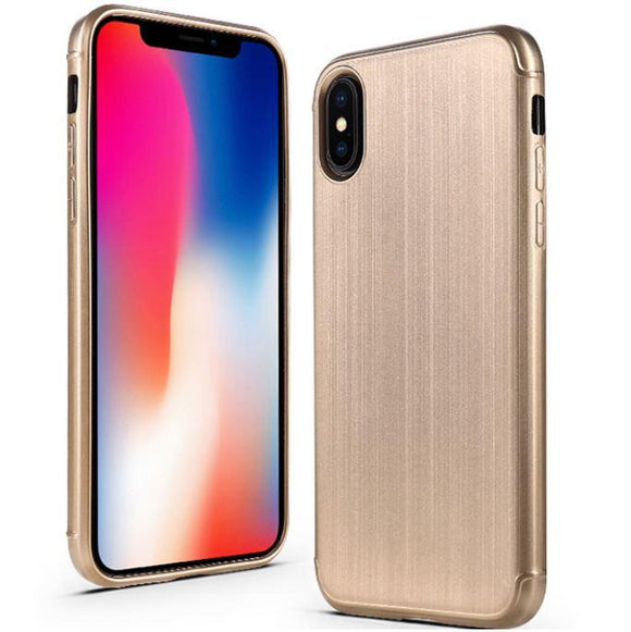 Slim Brushed Lines Phone Case for iPhone X