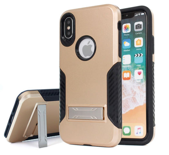 Shock-Resistant iPhone 8 and X Case with Kickstand