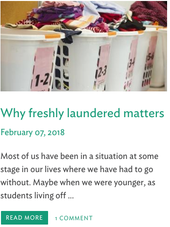 Why freshly laundered matters