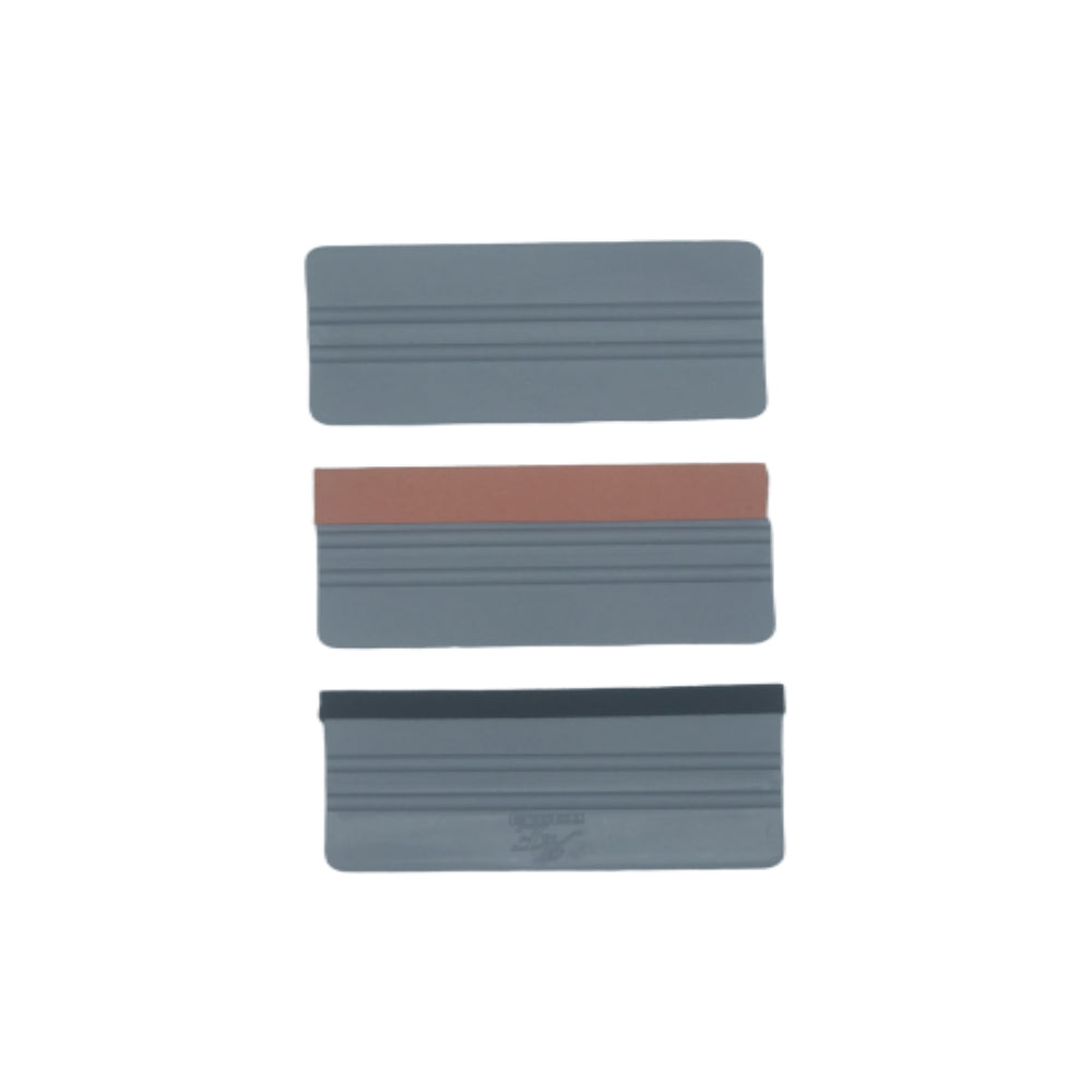 AE-913PC - 3PCS 6 inch Felt/Suede/Regular Grey Bondo Hard Card Squeegee Car Window Tint Vinyl Scraper Decal - AE QUALITY FILM