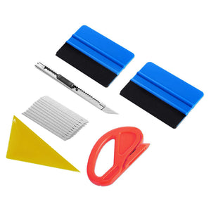 AE-996 Vinyl Wrap Tool Kit, Window Tint Kit Auto Window Tint Installation Tool Kit, Corner Reach, Felt Squeegee, Film Cutter, Utility Knife and 10 PCS Blades - AE QUALITY FILM