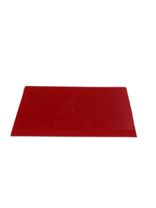"AE-121 - 5"" Angled Beveled Squeegee Blade - Red/Soft - AE QUALITY FILM"