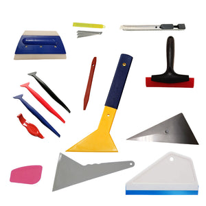 AE-314 - 14pc Professional Window Film Tinting Kit: Window Film Tinting Tools, Auto Vinyl Wrap Installation Kit, Window Tint Squeegee, Vinyl Squeegee, Utility Knife & Blades - AE QUALITY FILM