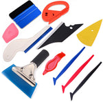 AE-998 Car Window Tint Tool Kit with Vinyl Warp Squeegee Plastic Scraper Cutter Utility Knife and Blades - AE QUALITY FILM