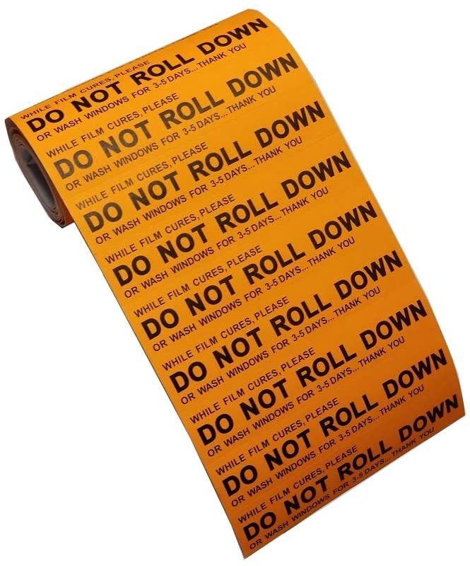 "AE-101-100 - ""DO NOT ROLL DOWN"" 100ct Stickers - AE QUALITY FILM"