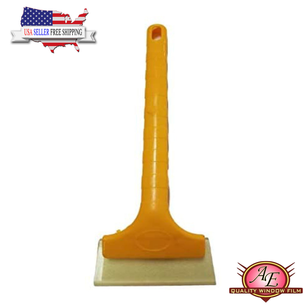 AE-128 - Yellow Long Handle Squeegee - AE QUALITY FILM