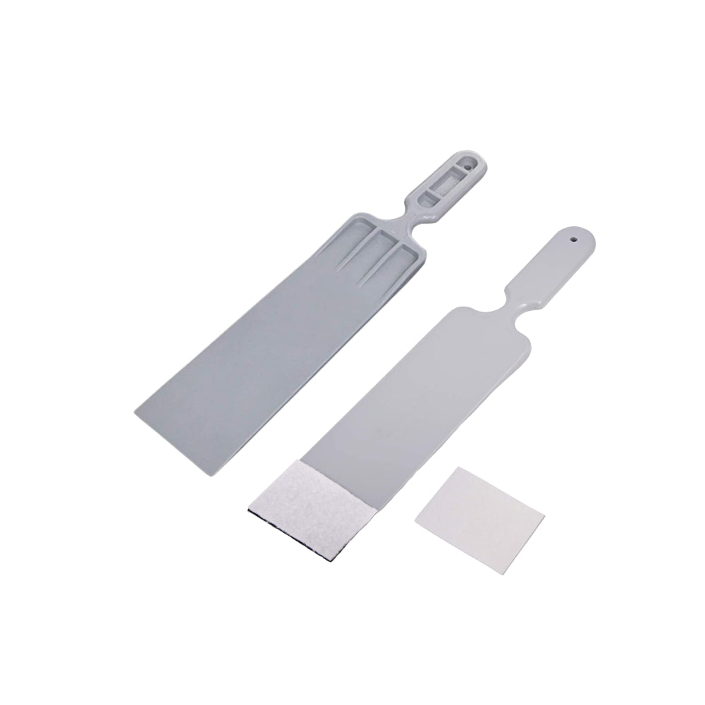 AE-2829W 3 pc Long Handle Paddle Scraper with and Without Scratch Pad w/extra Pad - AE QUALITY FILM