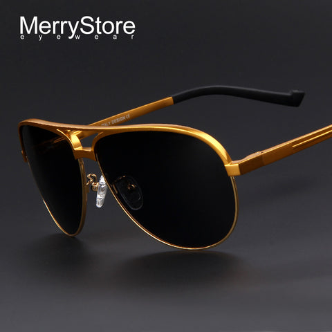1e5303cc36 MERRYSTORE Men Brand Aluminum Alloy Polarized Shield Sunglasses Ultralight  Gold Frame Polar Glasses Polarized Sunglasses