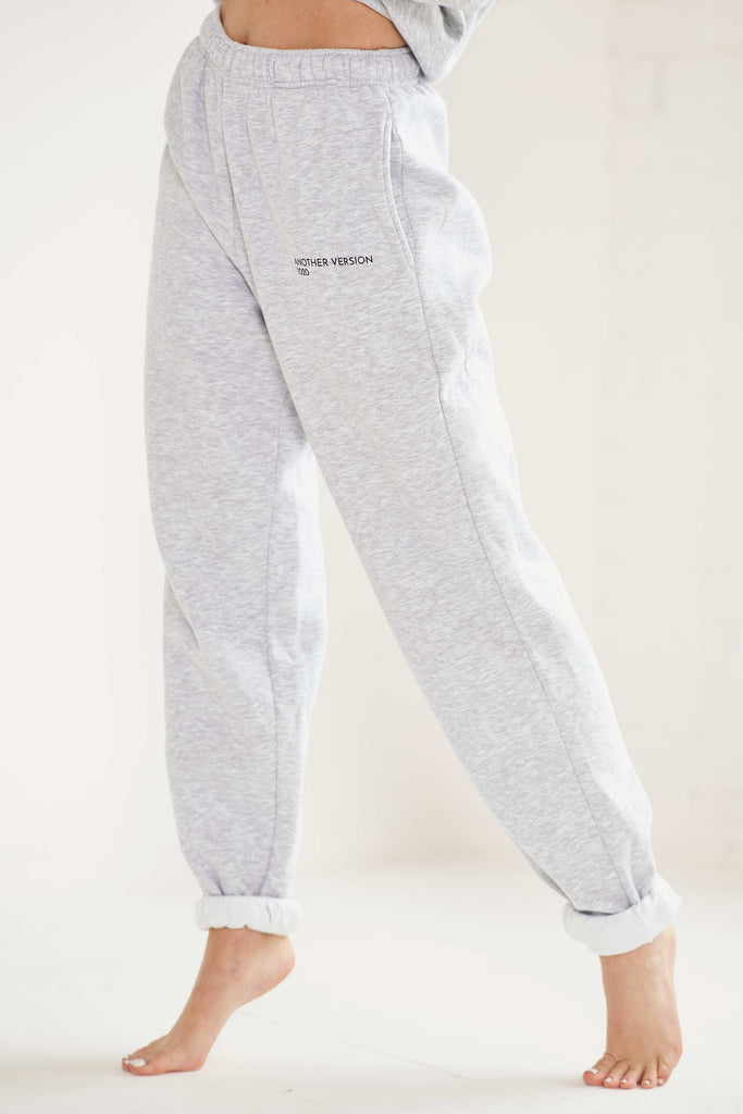 Essential Oversized Joggers - Grey Marl